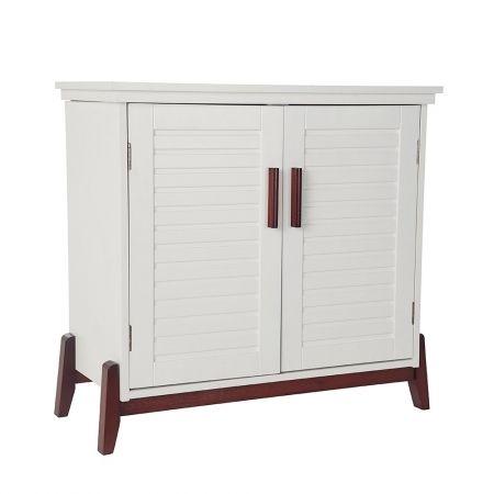 Howards storage world white low lying storage cabinet - Howards storage ...