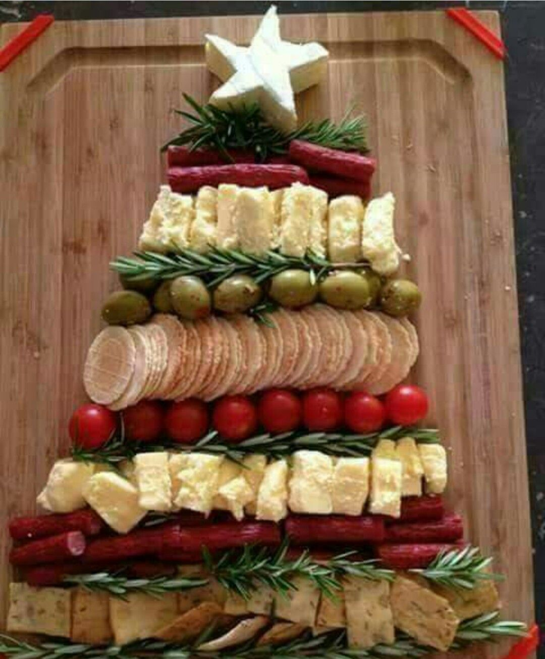 Pin by kristen laine on holiday fun pinterest food platters christmas tree with brie cheese star by andra ionescu forumfinder Images
