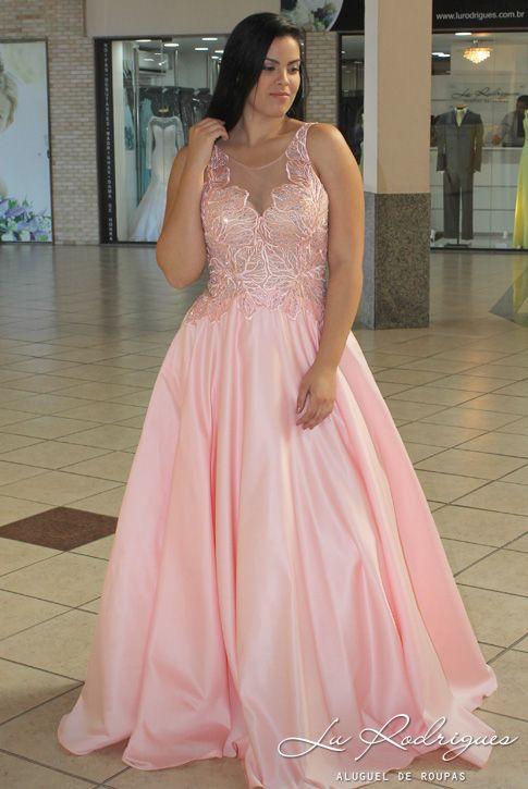 0e6a785f0 Vestido de Madrinha Plus Size 122 (rose) | Vestidos de Festa Plus ...