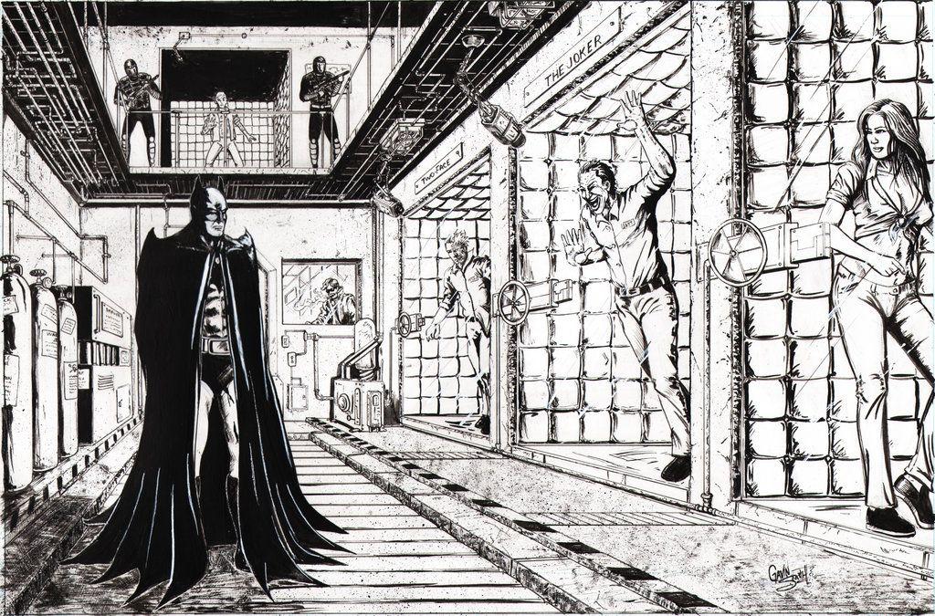 batman: arkham asylum - gavin smith | comic art | pinterest ... - Batman Arkham City Coloring Pages