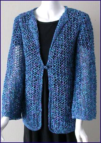Party Ribbon Criss Cross Jacket Crystal Palace Yarns Free Knitting