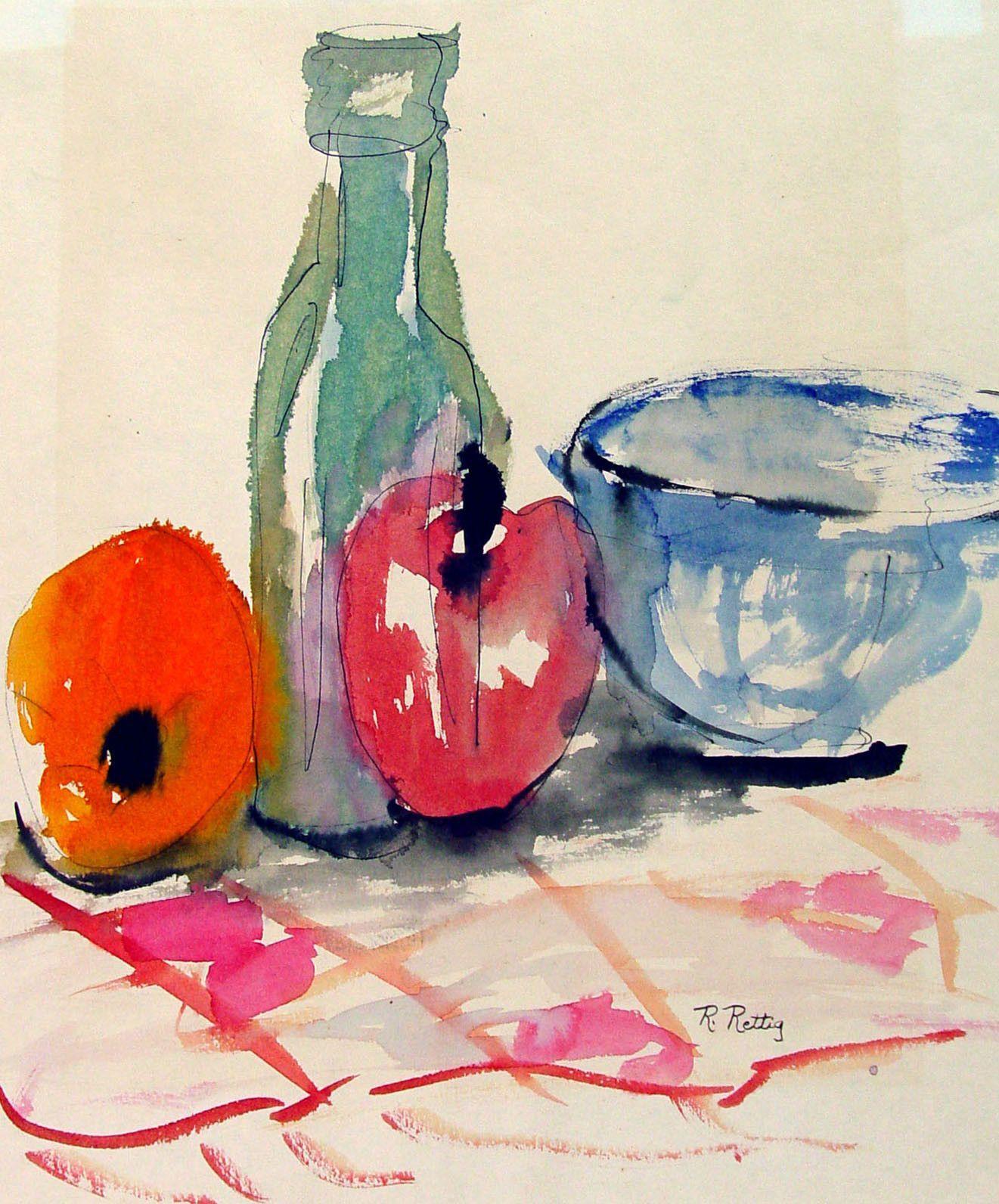 Fruit Still Life Watercolor