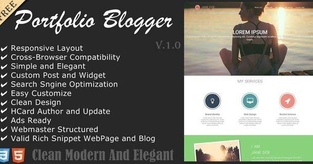 Download Service portfolio responsive and SEO friendly blogger ...