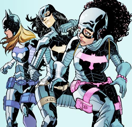aegontargaryen:  Future Batgirls   Cassandra Cain, Stephanie Brown, and Tiffany Brown