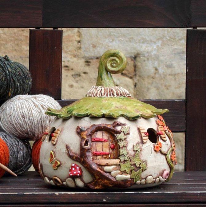 garnschale strickhaus xl keramik fairy garden houses. Black Bedroom Furniture Sets. Home Design Ideas