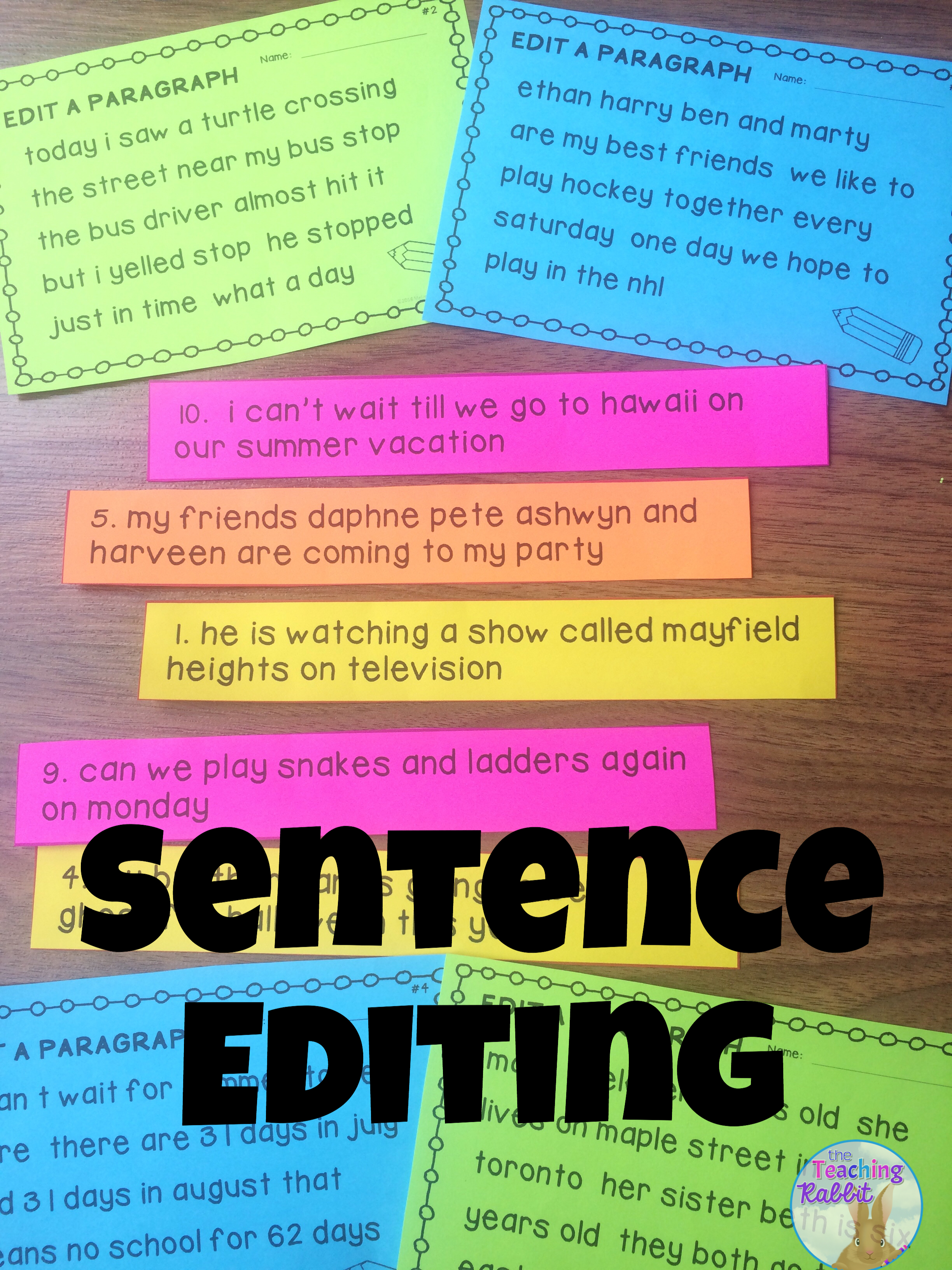medium resolution of This Sentence Editing resource contains posters