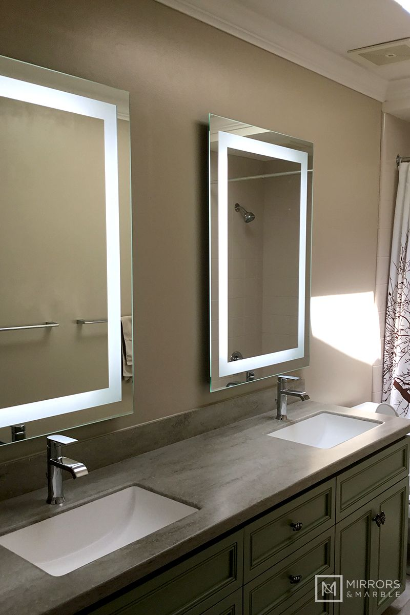 Front Lighted Led Bathroom Vanity Mirror 28 Wide X 40 Tall Rectangular Wall Mounted Bathroom Vanity Mirror Led Mirror Bathroom Double Vanity Bathroom