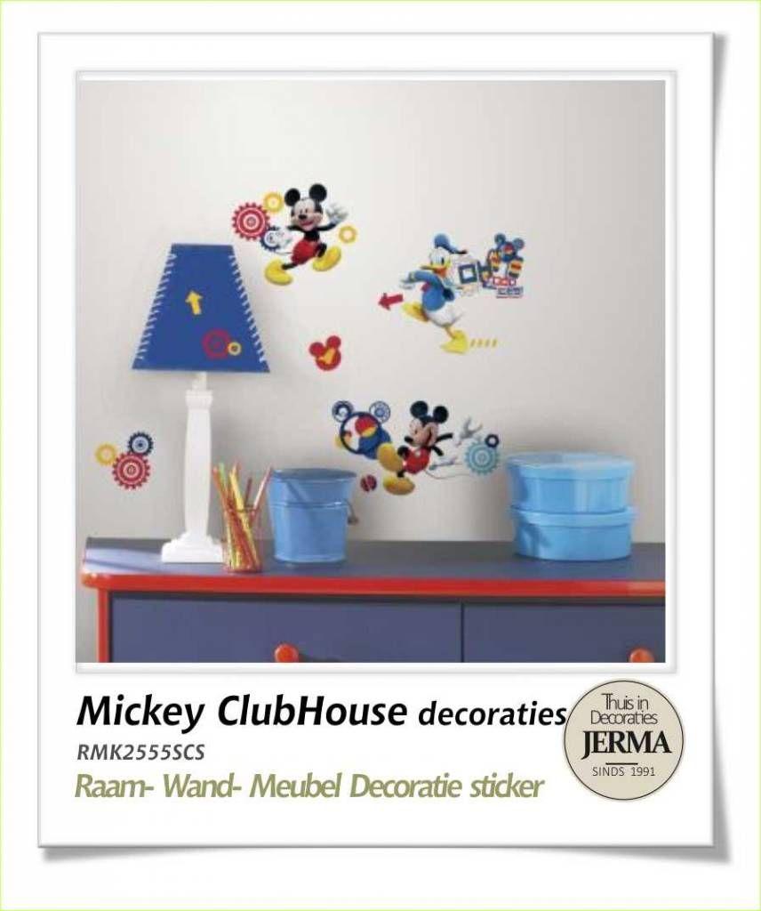 Lovely Wandstickers Meubeldecoratie kinderkamer idee disney muurstickers Mickey ClubHouse decoraties