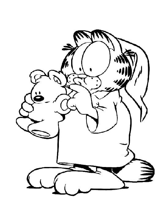 Garfield Want To Sleep Coloring Pages - Garfield Coloring Pages ...