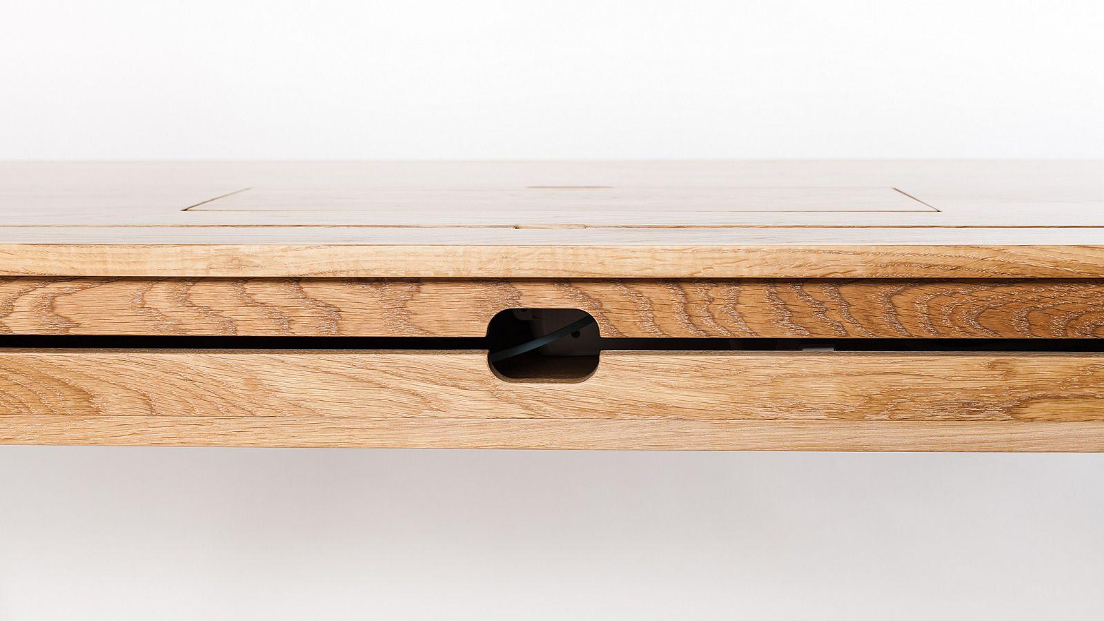 Schreibtisch Eiche Massiv Mit Verstecktem Abteil