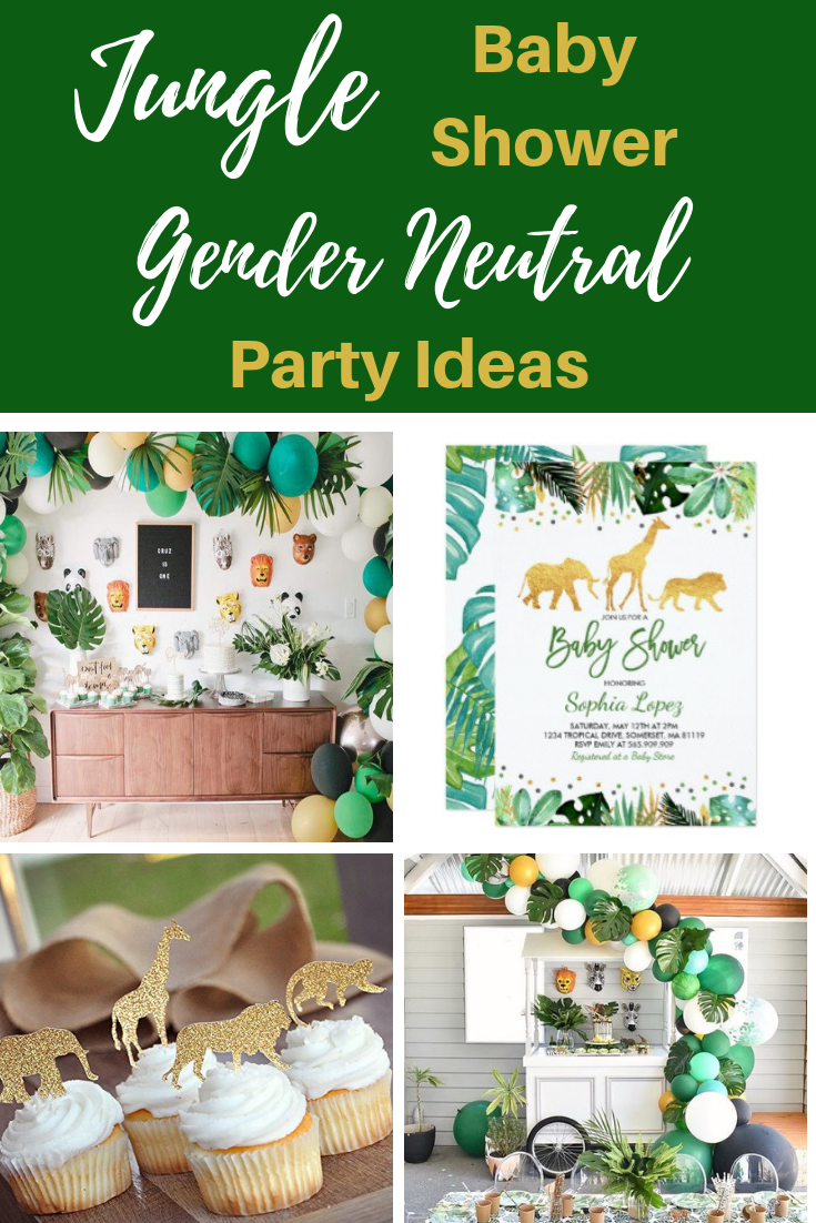 Jungle Baby Shower Theme Decorations For A Gender Neutral Shower Vcdiy Decor And More Girl Baby Shower Decorations Girl Shower Decorations Boy Baby Shower Themes