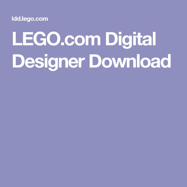 LEGO.com Digital Designer Download | lego | Pinterest | Digital ...