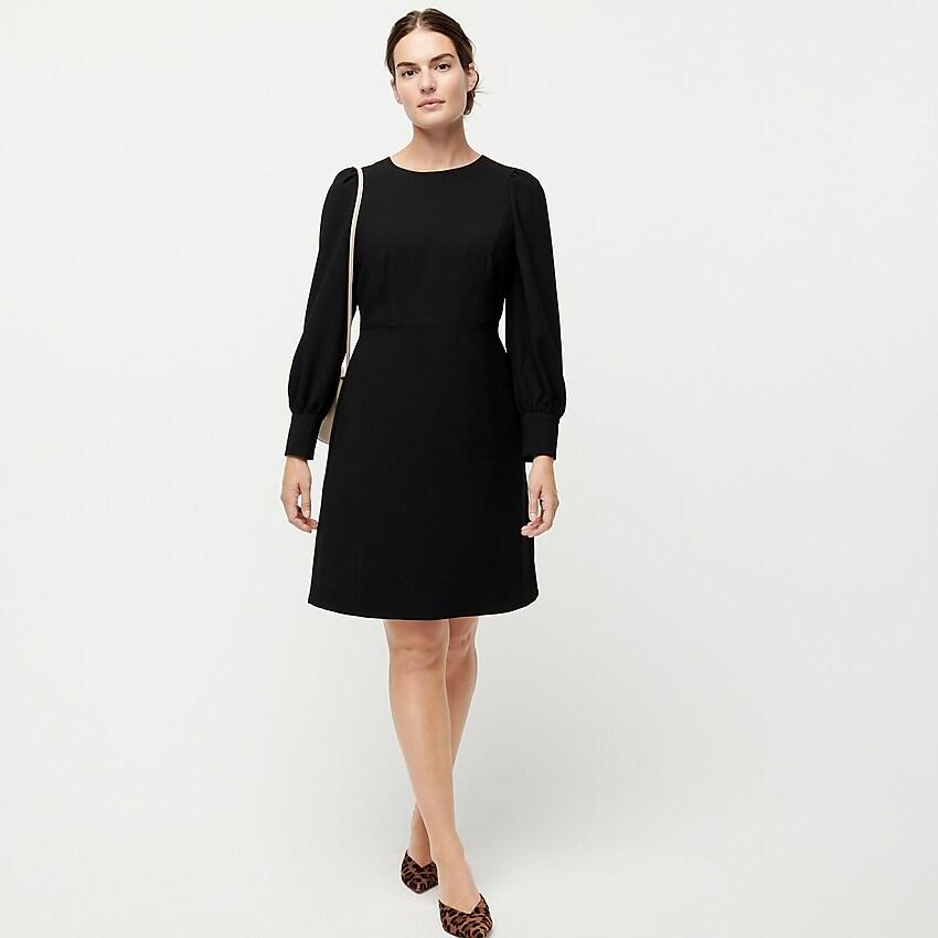 J Crew Petite Long Sleeve Dress In 365 Crepe Petite Long Sleeve Dress Long Sleeve Dress Womens Dresses