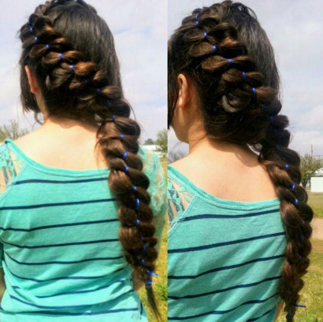 Diagonal 4 Strand Ribbon Braid Goddess Braids Short Hair Styles Long Hair Styles