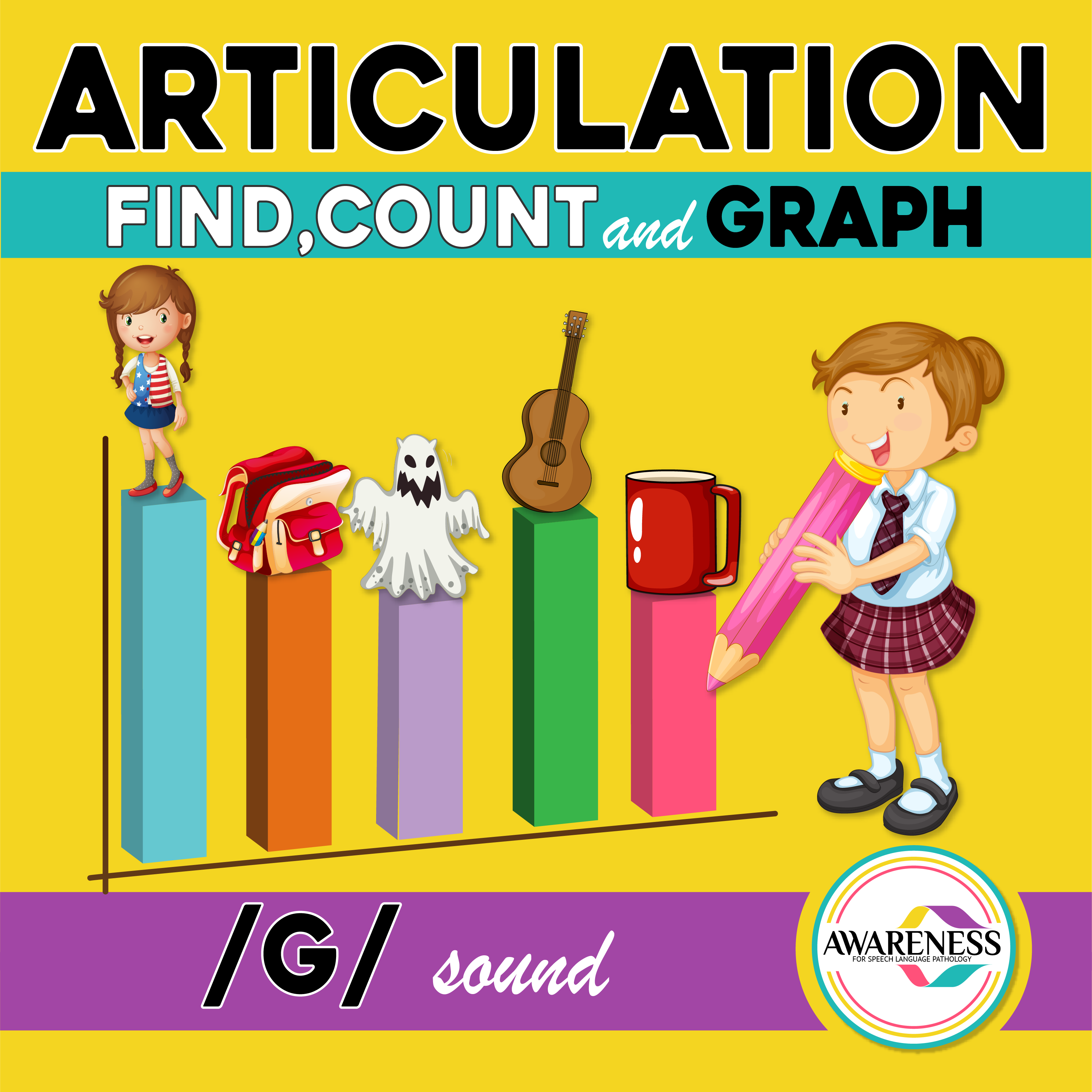 G Articulation Activity G Sound Count Amp Graph No Prep