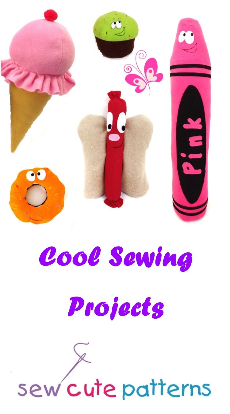 Cool sewing projects sew a giant plush ice cream cone or 3 foot cool sewing projects sew a giant plush ice cream cone or 3 foot plush crayon what could be cooler than that unique one of a kind patterns include jeuxipadfo Images