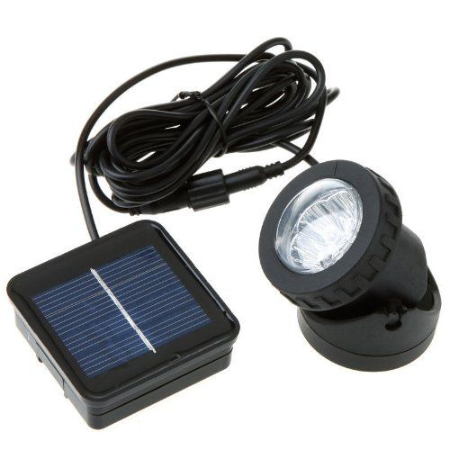 Commart Waterproof Solar Powered Led Spotlight Spot Light Lamp Garden Pool Pond Outdoor Visi Solar Powered Led Lights Solar Powered Spotlight Outdoor Solar
