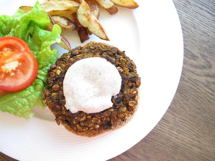 My favorite recipe I've created, the vegan burger!