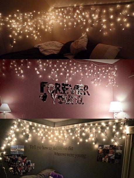 Fairy Lights Room Jewels Fairy Lights Lights Hanging Tumblr Bedding Tumblr Bedroom Room