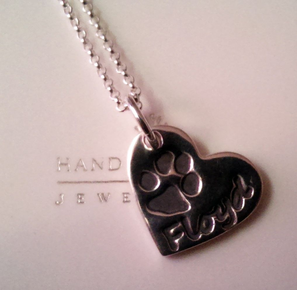 I am in love with my new necklace from Hand on Heart Jewellery featuring my dog's paw print to celebrate his 11th birthday in April.