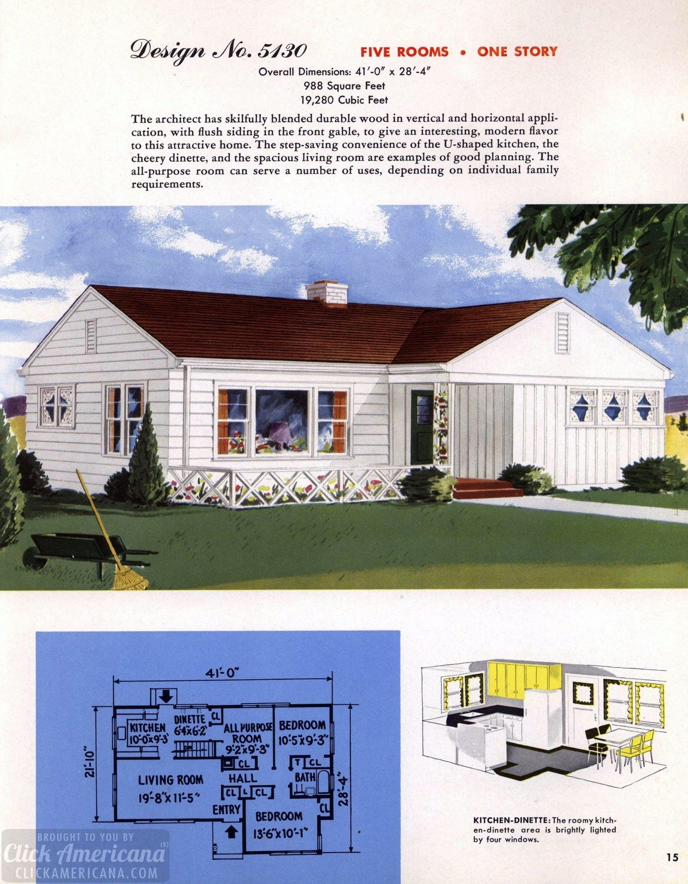 130 Vintage 50s House Plans Used To Build Millions Of Mid Century Homes We Still Live In Today House Plans Mid Century House Home Design Floor Plans