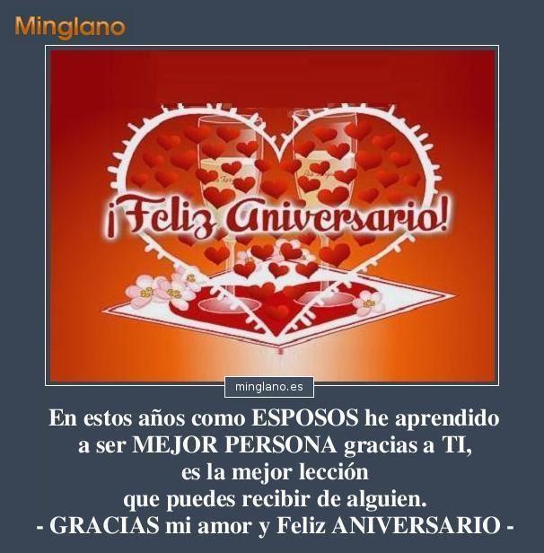Frase Bonita Para Felicitar El Aniversario De Boda Al Esposo O La
