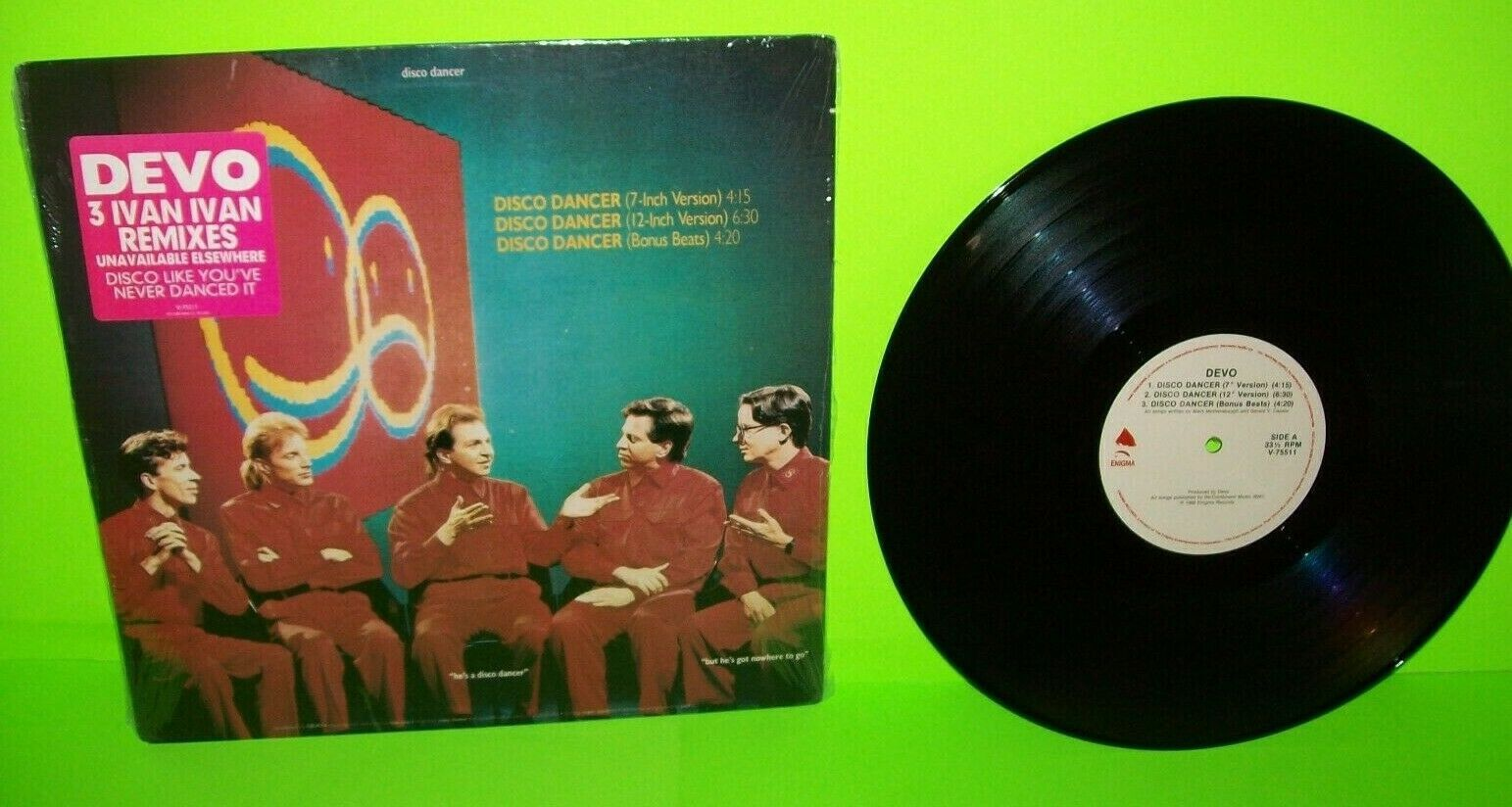 Devo Disco Dancer Vinyl 12 Ep Record Synth Pop New Wave Nm 1988 Hype Sticker Synth Pop Used Vinyl Electronic Music