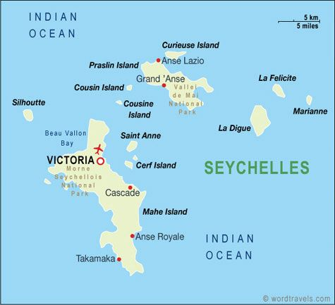 SEYCHELLES With 115 islands in the western Indian Ocean is the