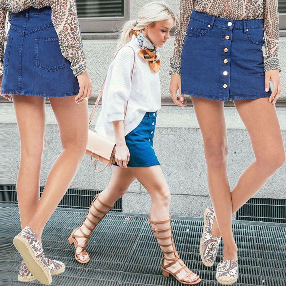 b013c343d5 NWT ISABEL MARANT Denim Mini Skirt Plume Blue Jean Twill Button Front  Pockets 38 #IsabelMarant #Mini
