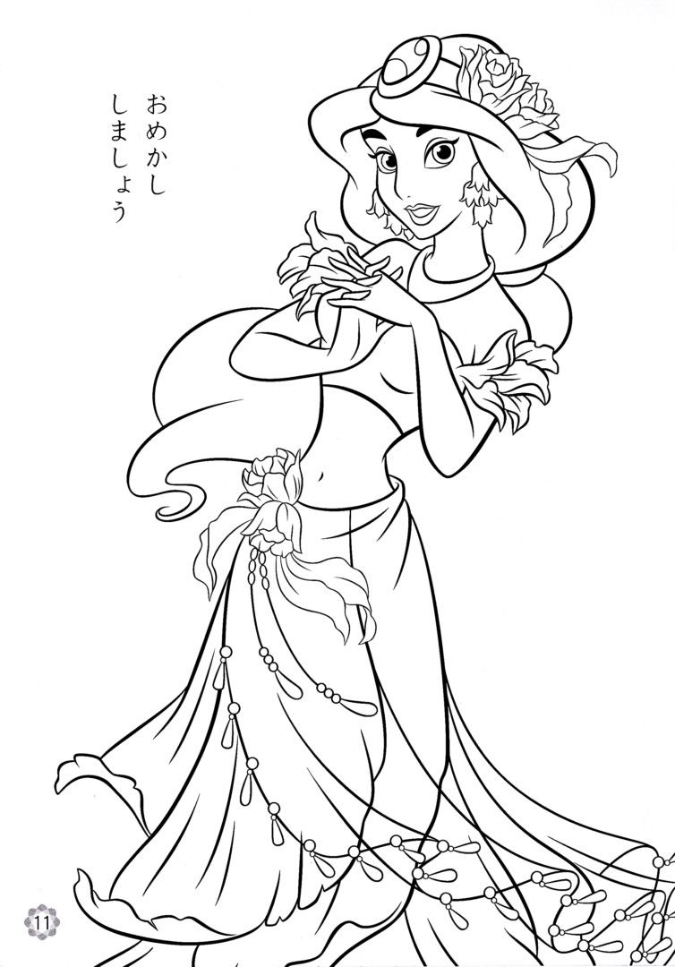 Colorings Co Disney Princess Jasmine Coloring Pages For
