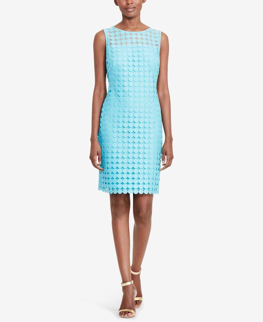 Lauren Ralph Lauren Petite Melia Dot-Lace Sheath Dress   Products ...