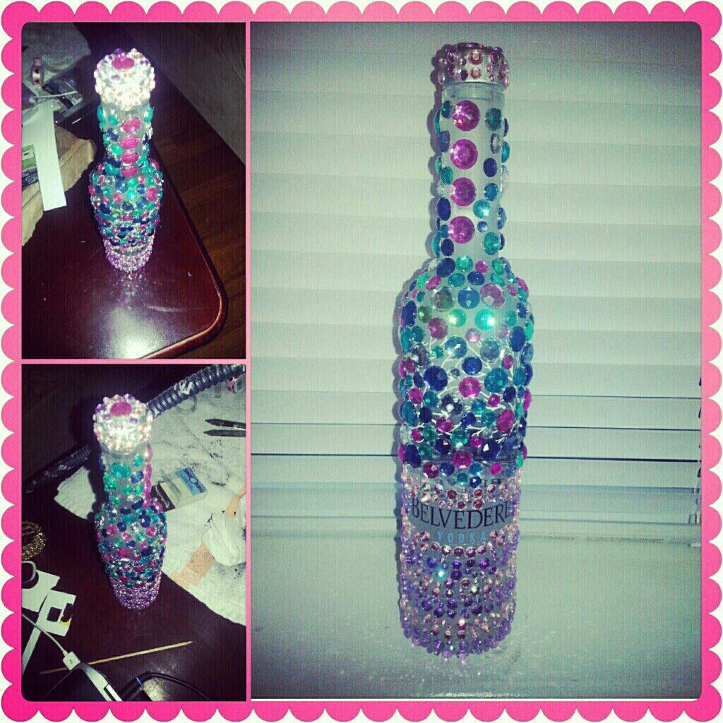 Bedazzel your alcohol bottle?