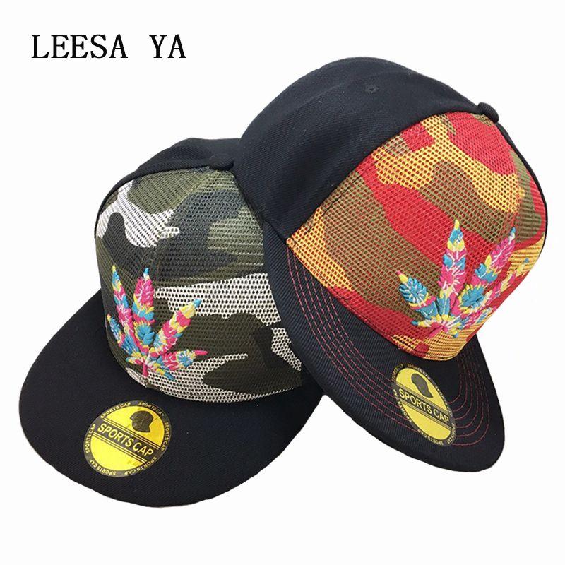 Leaves Letter Snapback Hat Hip Hop Cap Snapback Cap Hip Hop Hat Baseball Cap Fashion Camo Hat For Men Women Unisex Adjustable