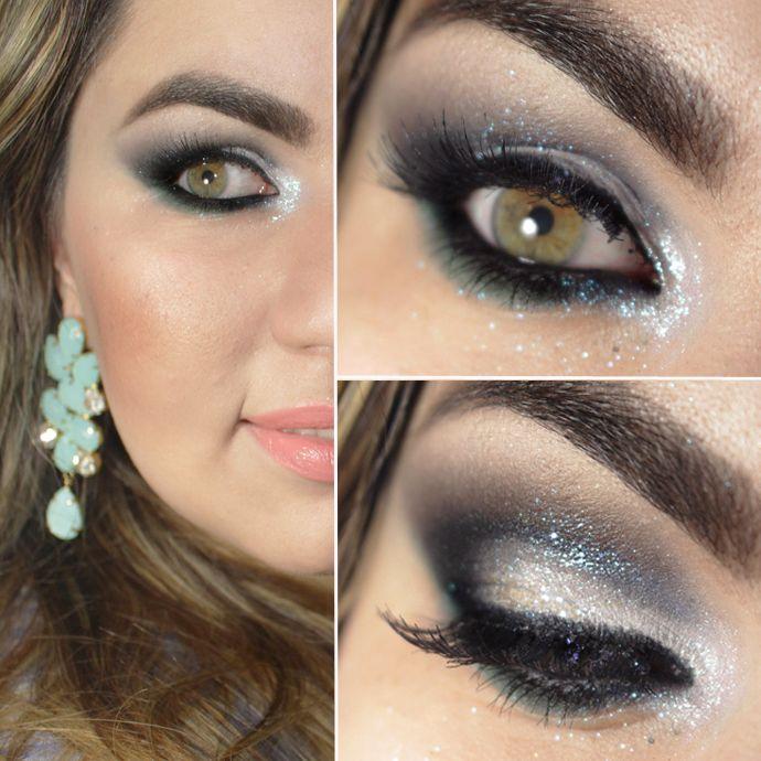 Vídeo – maquiagem olho esfumado cut crease, brilho pérola e verde sereia