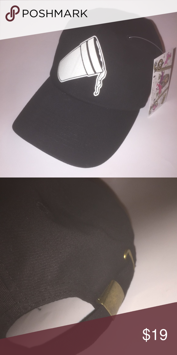 f3089d5da52 Lean Dad Hat NWT This Black Strapback Dad Hat is adjustable with tuck  pocket NEW   Ignore tags