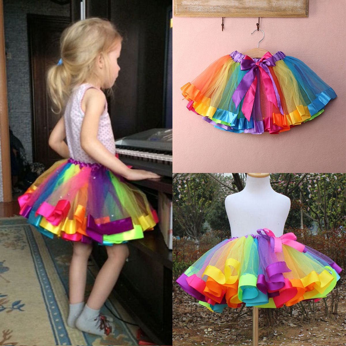 Newborn Toddler Baby Girls Tulle Tutu Skirts Dancewear Dance Party Dress Clothes