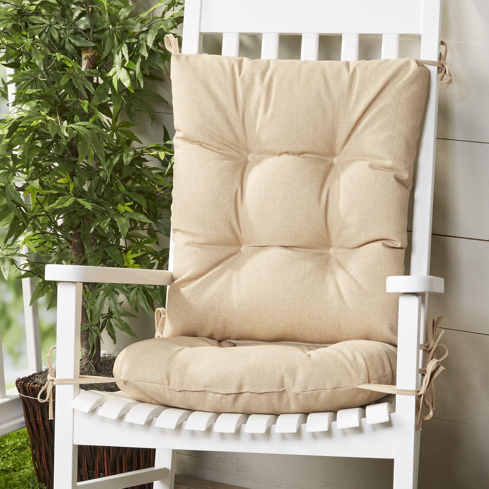 Outdoor 2 Piece Rocking Chair Cushion Set