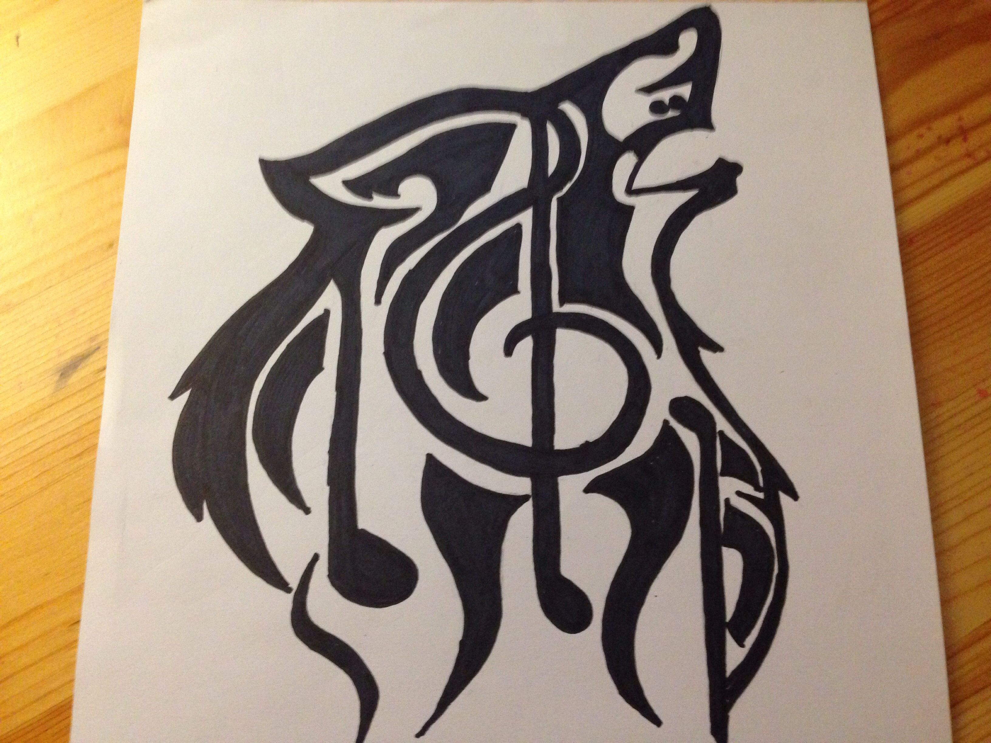 Wolf With Music Note Drawing - SilentArtist1018 © 2015 - Dec 7, 2013