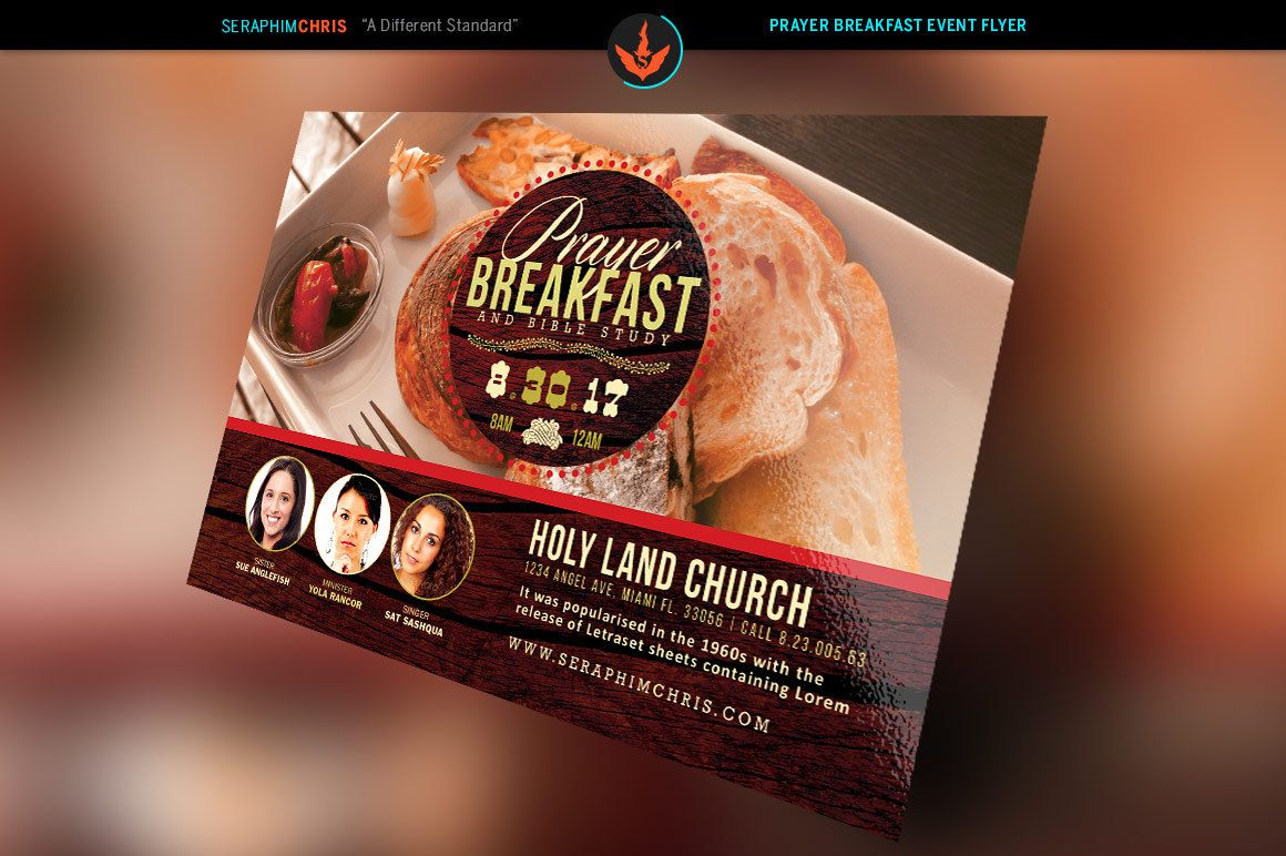 prayer breakfast flyer photoshop template x prayer flyers and prayer breakfast flyer template by seraphimcollective on