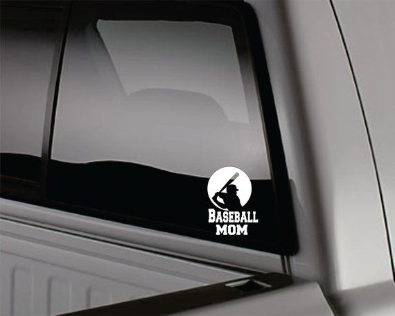Baseball mom car decal by WindowLickers on Etsy