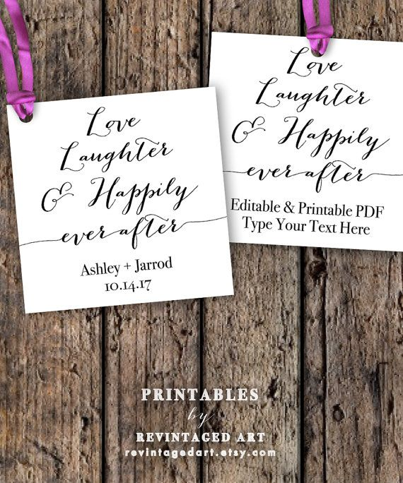 Love Laughter and Happily Ever After Tags by RevintagedArt on Etsy