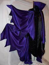 Maleficent Cape S to XL Black Violet Purple Demon Red Halloween Orange Cloak