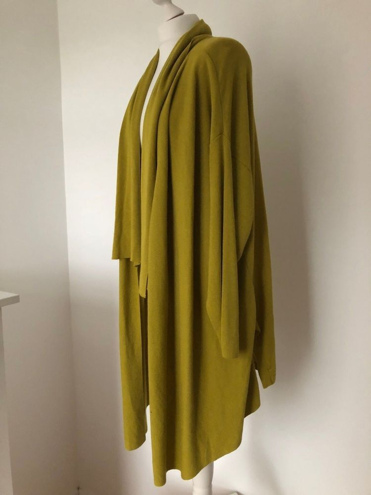 M/&S Cotton Blend Longline Cardigan L XL RRP £35