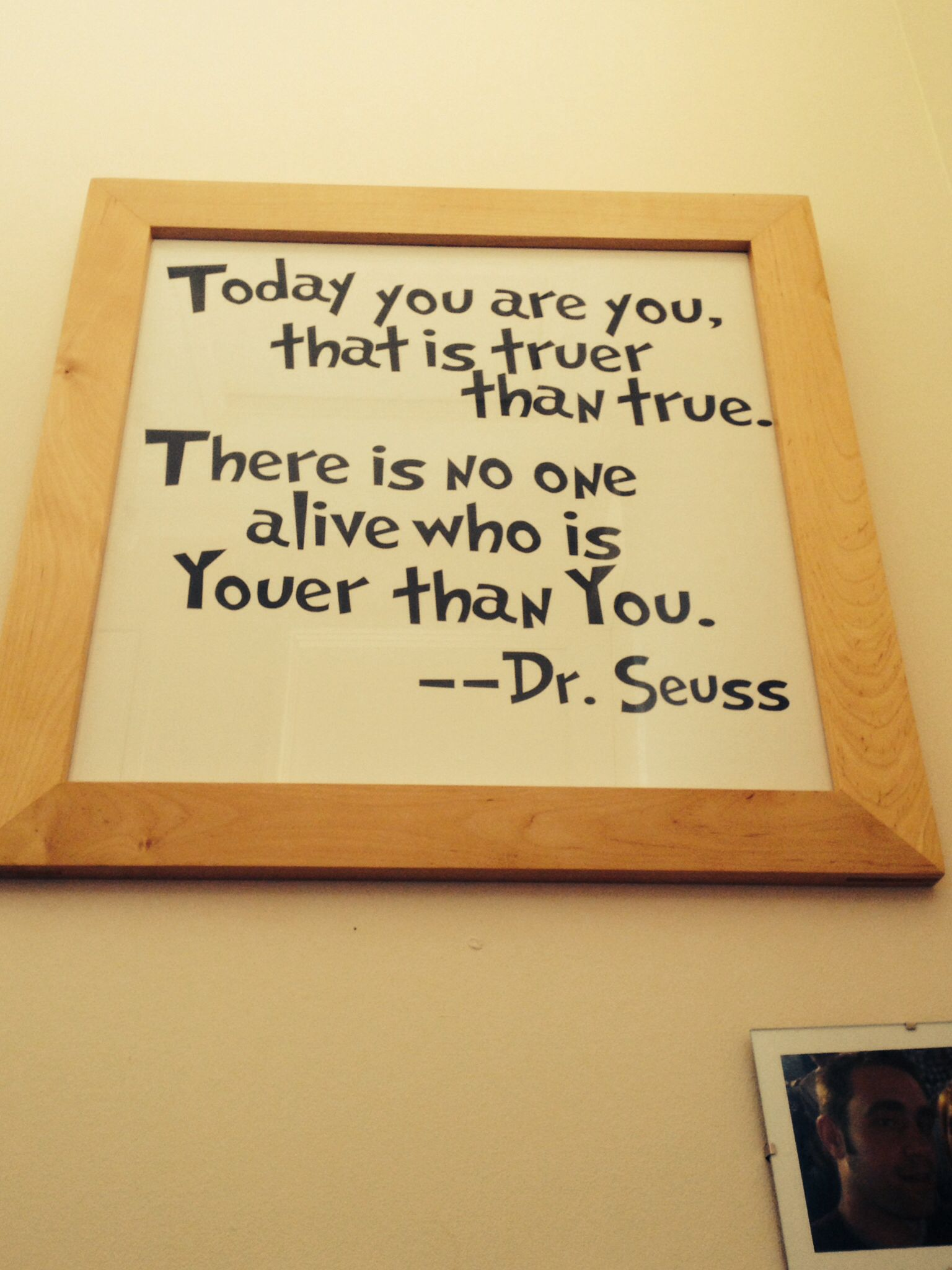 Dr seuss quotes, wall decal popped in a frame, instant art! | My ...
