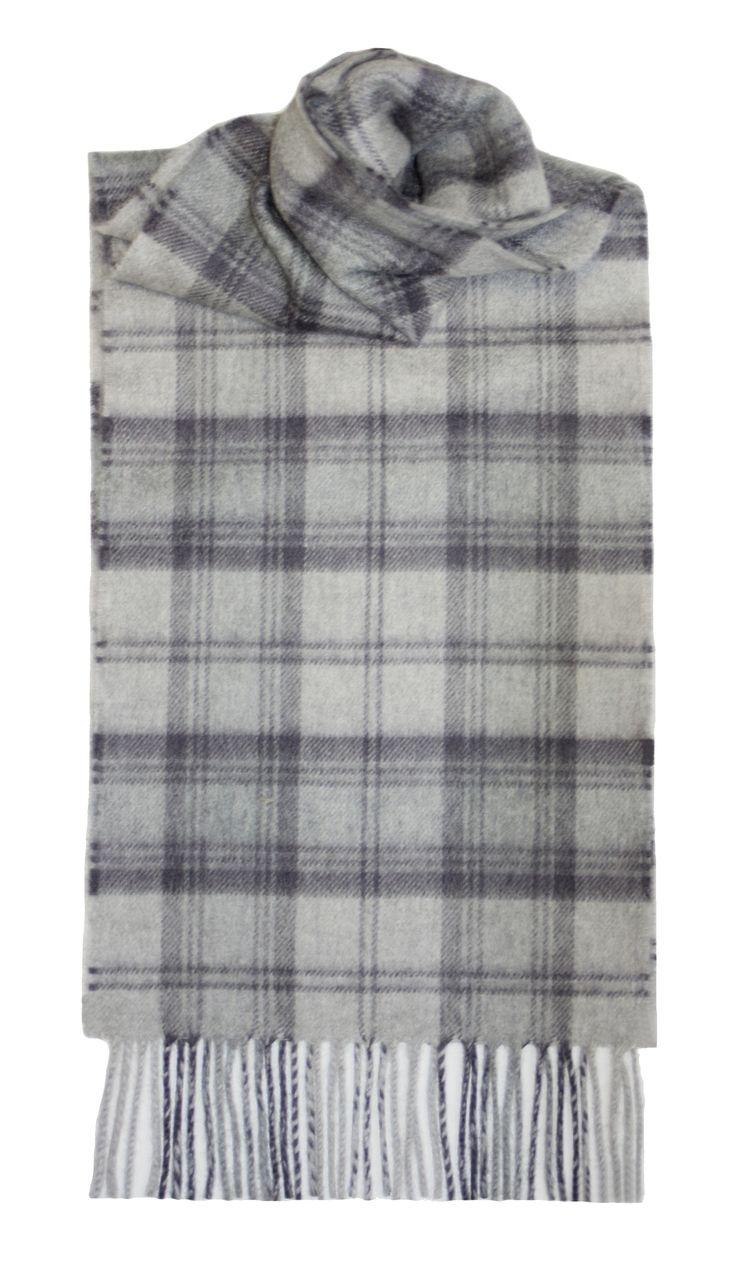 Lindsay Grey Tartan Cashmere Scarf - Lochcarron of Scotland   Tartan ... 29c9ce056e1
