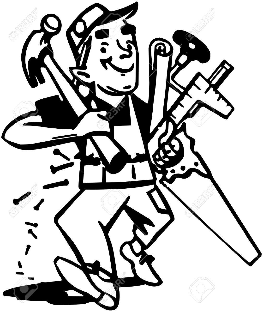 Carpenter Google Search Clip Art Hand Drawn Vector Illustrations Free Clip Art