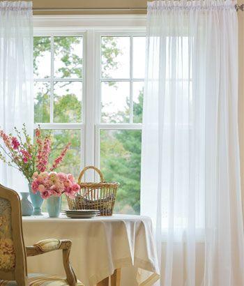 Curtains Ideas cotton curtains white : White Cotton Voile Curtains - Curtains Design Gallery