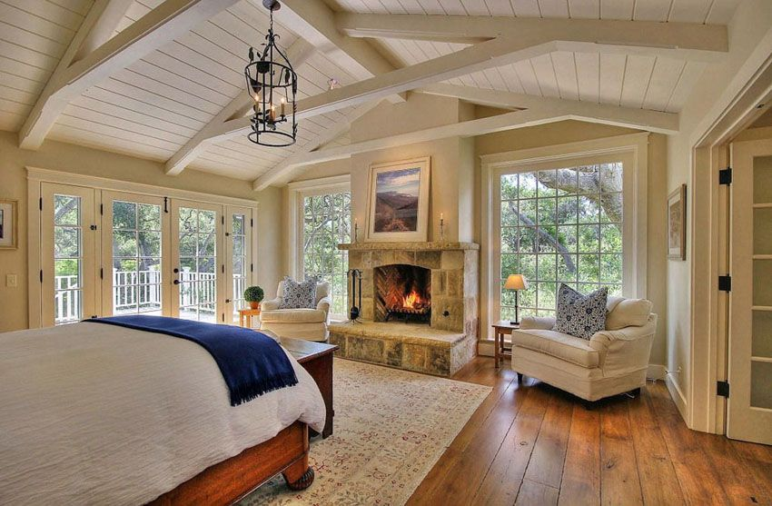 Luxury Master Bedrooms With Fireplaces Large Master Bedroom