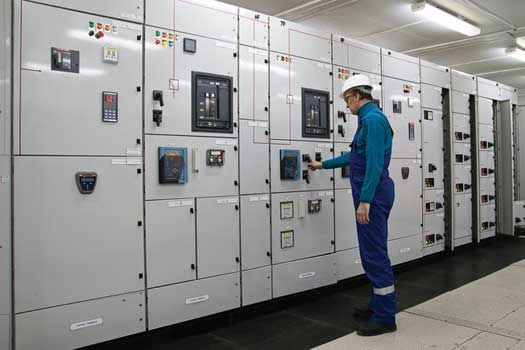 Substations and switchgear in an electrical system perform