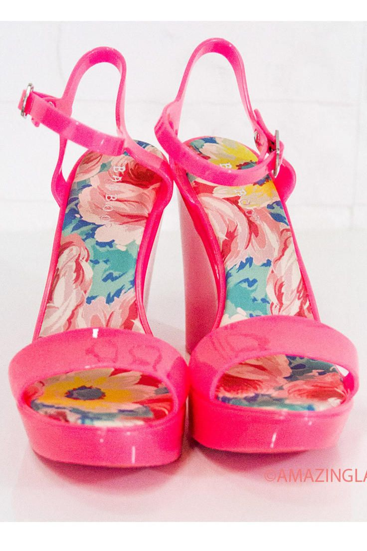 e5803b9d517 Save The Last Dance Hot Pink Jelly Wedge Sandals With Ankle Strap ...